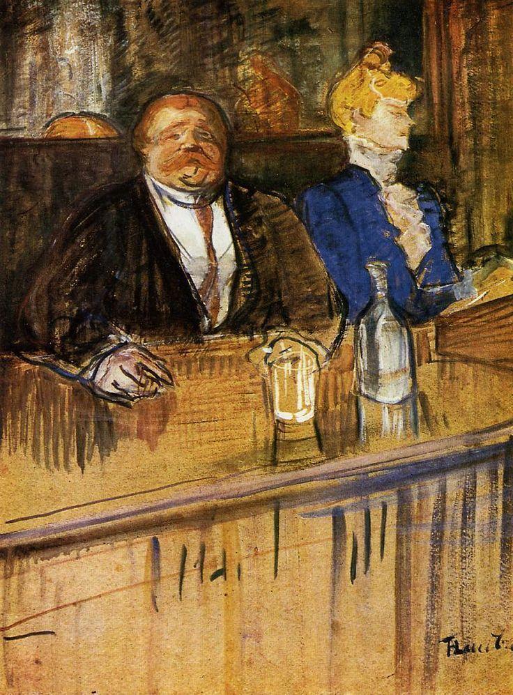 Henri de Toulouse-Lautrec 1893 Monsieur Boileau at the Cafe