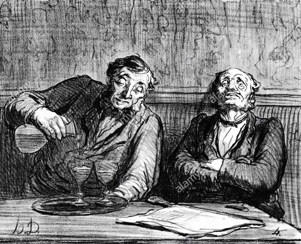 Honore Daumier's 1863 Absinthe Lithographs