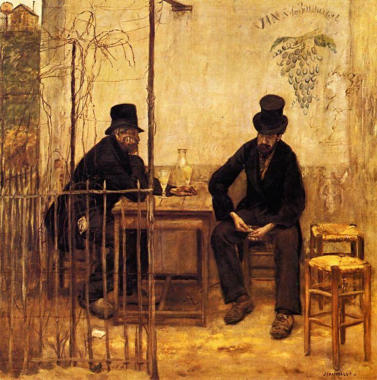 Jean-Francois Raffaelli's 1861 Absinthe Drinkers